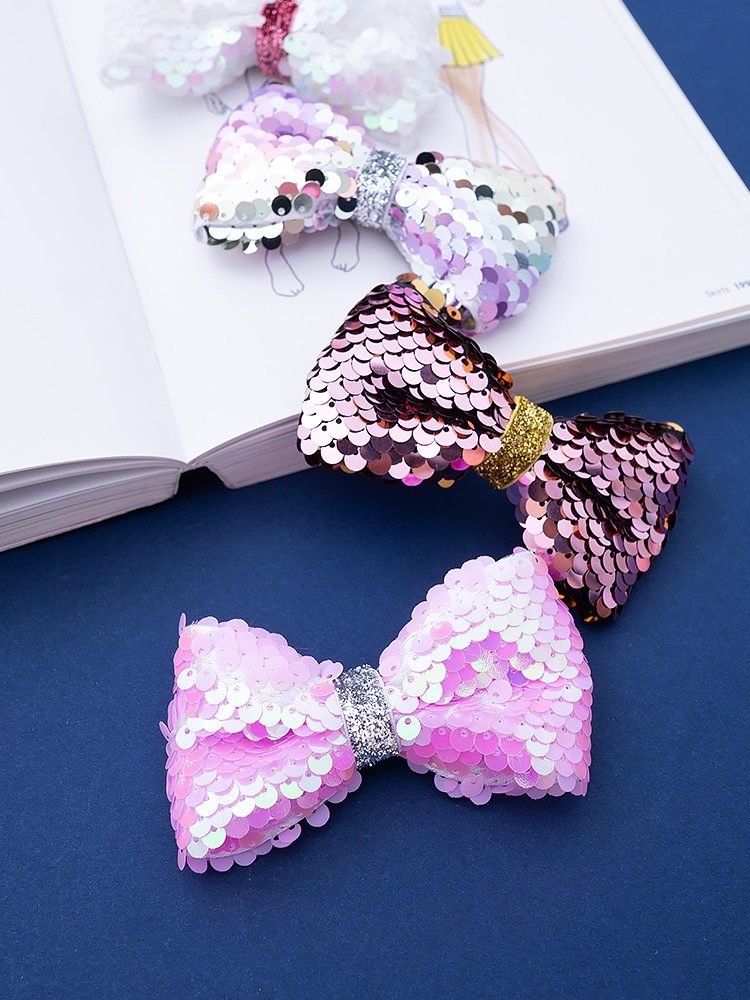 EXOTICA SEQUIN BOW HAIRCLIPS