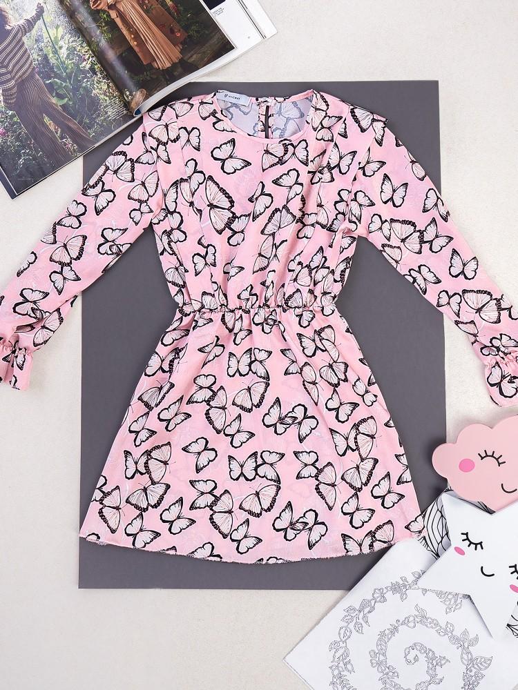 BUTTERFLY PINK DRESS